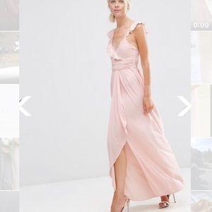 ASOS Ruffle Strappy Maxi Dress